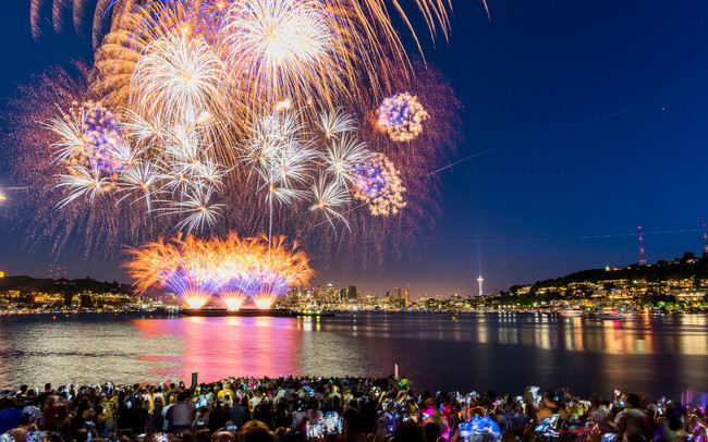 Fireworks display in Seattle