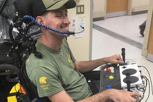 Veteran with controler