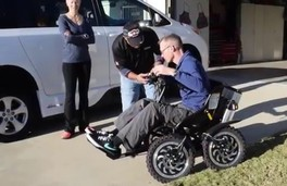 independence fund Veteran with donated zoom chair