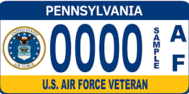 pa vet license plate