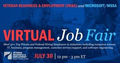 virtual job fair july 30