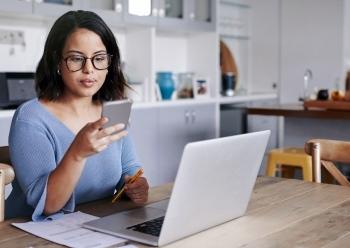 woman smart phone