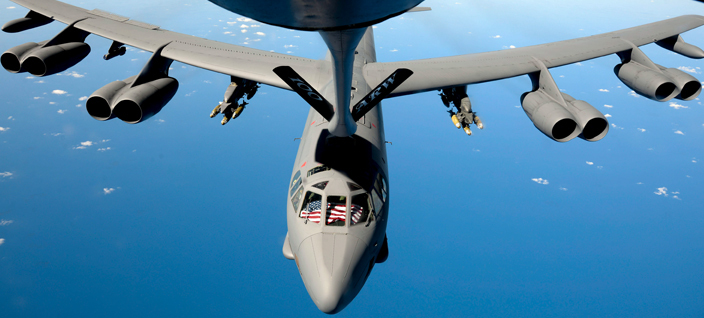 B-52 refueling in the sky