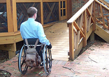 Specially Adaptive Housing, disabled veteran on wheelchair