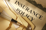 Insurance policy stock image