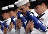 Burial, Navy flag bearers