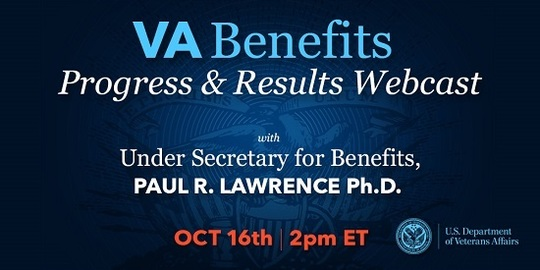 VA Benefits Progress and Results Webcast, Oct. 16, 2018