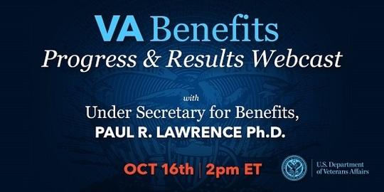 VA Benefits Progress and Results Webcast, Oct. 16, 2018