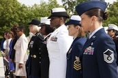 Wreath-laying ceremony at the Arlington Cemetery