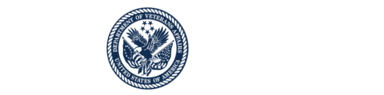 Official white logo of the U.S. Department of Veterans Affairs