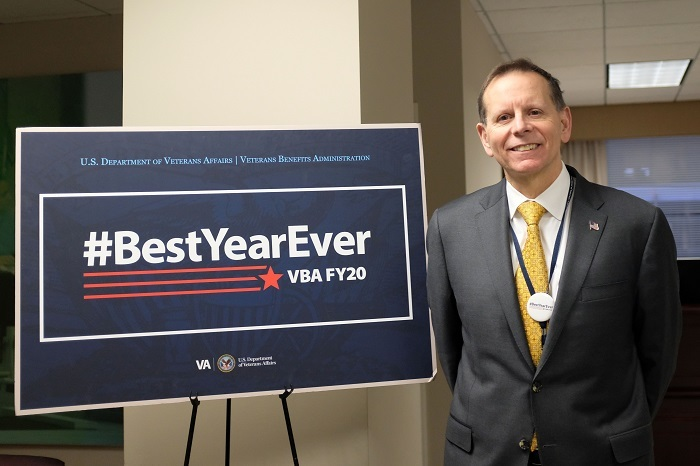 Under Secretary for Benefits next to #BestYearEver sign