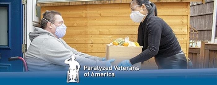 Paralyzed Veteran receiving an order of groceries