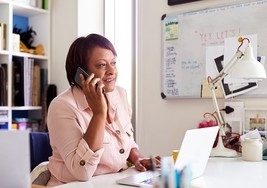 Veteran calling into VBA's tele-townhall from her home office