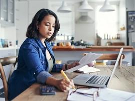 Fiduciary working on finances
