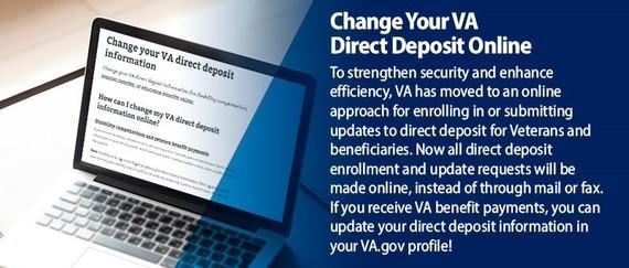 Change Your VA Direct Deposit Information Online