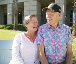 Senior Veteran with his family caregiver