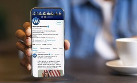VBA's Twitter feed on a smartphone
