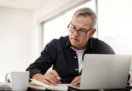 Veteran reviewing his VA claim online