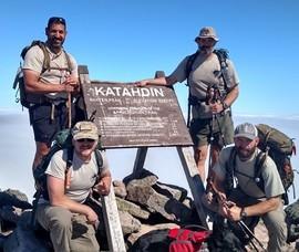 Veterans climbing Mount Katahdin in Maine