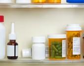 Prescription Medications In Medicine Cabinet
