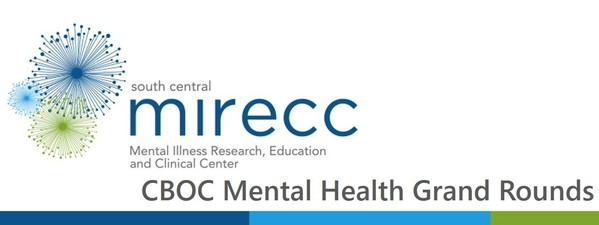 Banner for the CBOC Mental Health Grand Rounds
