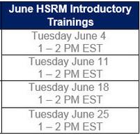 HSRM June Dates