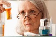 Veteran checking her prescriptions