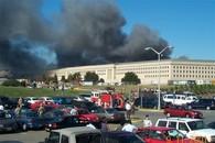 Burning Pentagon on September 11, 2001
