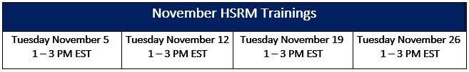 HSRM Trng Nov