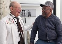 Doctor and Veteran talking during appointment