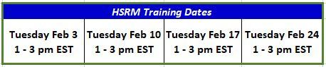 Image of HealthShare Referral Manager table of February 2020 Training dates and times