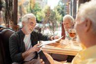 Veteran reading menu for smart options