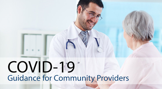 COVID-19 Guidance for Community Provider, Doctor talking to patient