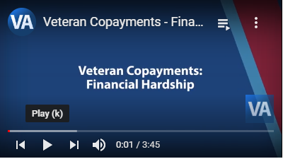 Graphic link to video about VA Financial Hardship Program