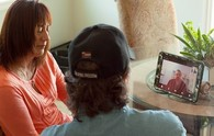 A Veteran and his partner using VA Video Connect