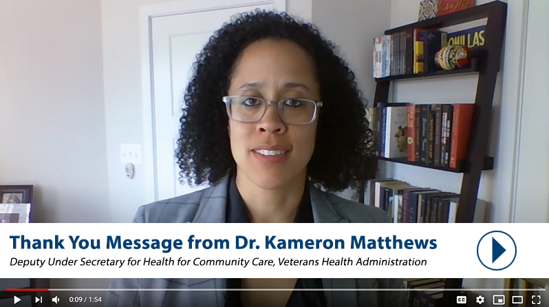 Thank you video to community providers from Dr. Matthews