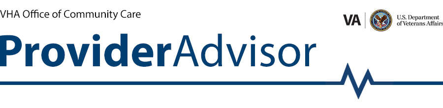 Provider Advisor banner, no sign up
