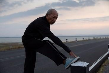 A Veteran taking a break from his run
