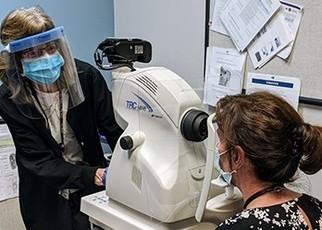 A Veteran having an annual eye exam