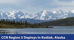 Alaska mountains and river CCN deploys in Kodiak, AK