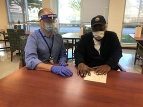 Blind Veteran test out a 3D tactile sample