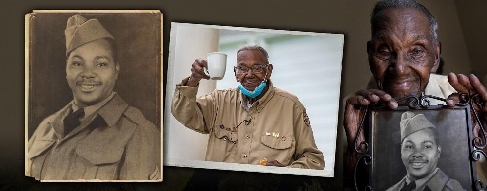 collage of elderly Veteran