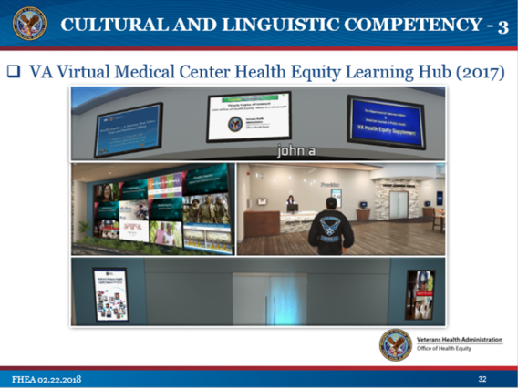 VA Office of Health Equity Virtual Medical Center Health Equity Hub