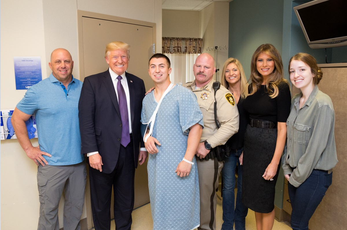 Photos from President Donald J. Trump and First Lady Melania Trump's Visit to University Medical Center in Las Vegas, Nevada