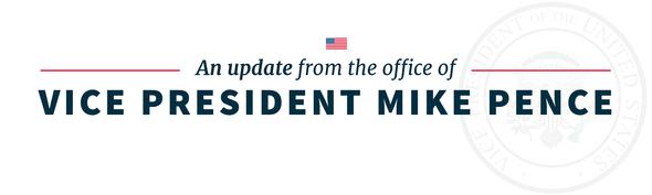 Vice President Pence's email newsletter header
