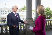 Vice President Pence talks with EWTN