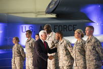 Vice President Pence visits Grand Forks Air Force Base