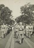 Marching parade