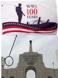 Flag over LA Coliseum 300