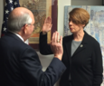 Dunning swearing-in